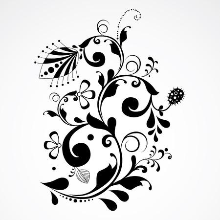 elegant floral design element  Vector