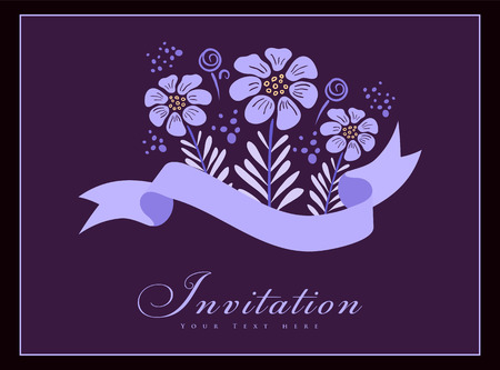 Vintage styled card. Perfect as invitation or announcement. Vector