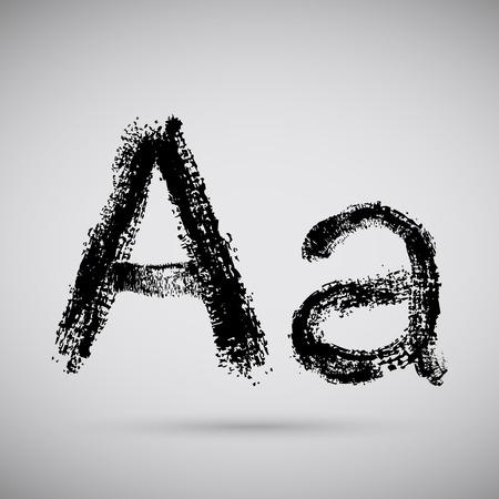 Grunge alphabet - A. Vector