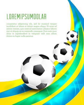 Creatief voetbal brochure design.