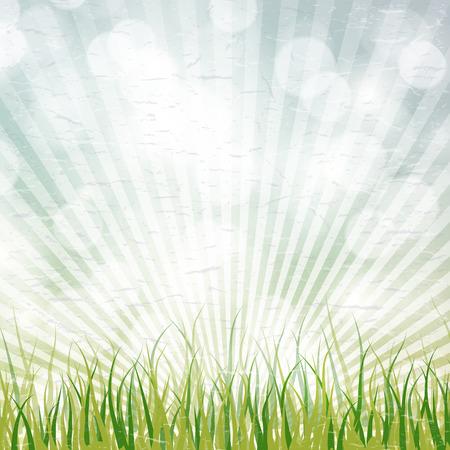 Retro zomer poster ontwerp. Grunge papier textuur.