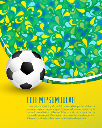 supporter: Creative soccer brochure design.