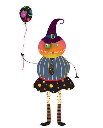 Illustration of cute Halloween characters  Vector