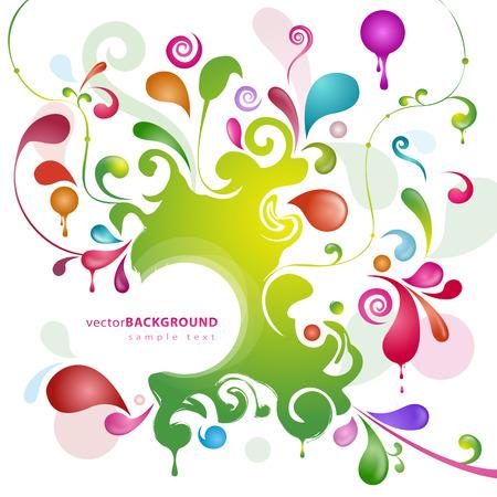 splash color: Astratto bellissimo sfondo color splash Vettoriali