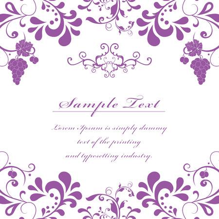 Beautiful floral invitation vintage card  Vector