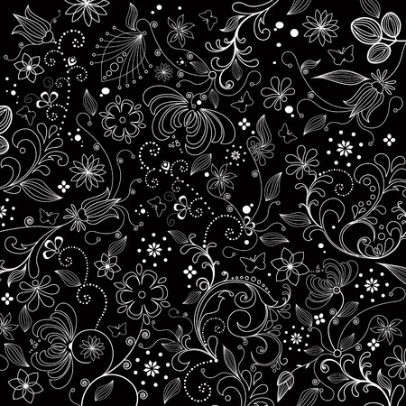 Hand drawn abstract flower illustration background Vector