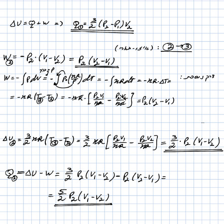 Math background with formulas, number equation  Vector