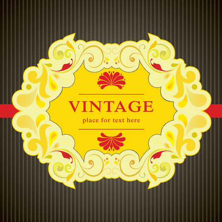 elegant vintage card design, illustration background  Vector