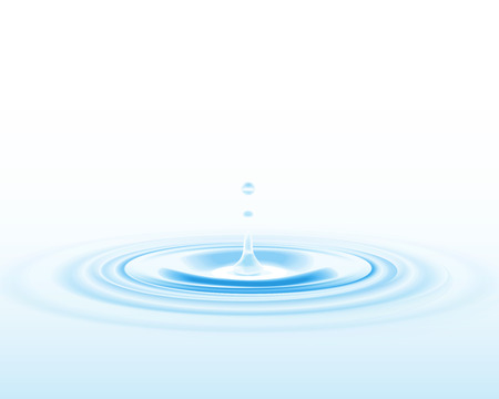Falling water drop  Vector