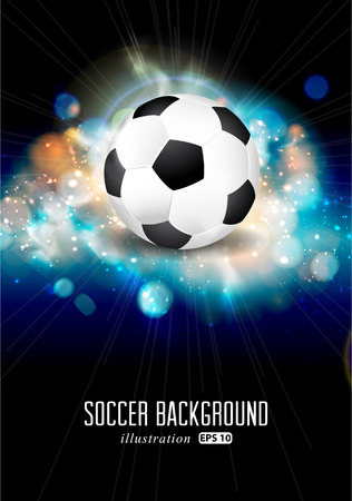 football fan: Abstract soccer ball brochure illustration.  Illustration