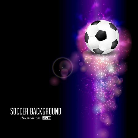 Creative soccer design background.