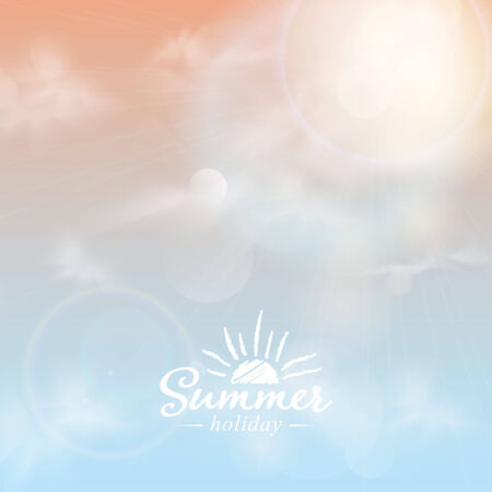 Summer sun light burst.  Vector