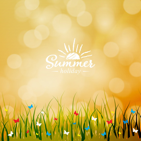 Summer light background.  Vector