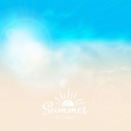 coastline: Abstract background with coastline and sunshine.  Illustration