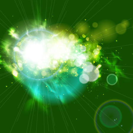 Abstract background with magic light.  Vector