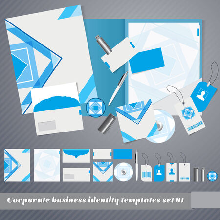 Corporate identity templates. Corporate identity templates: design folder, business cards, letter paper, envelope, disk, disk cover, pen, badge, lighter, usb flash drive. For vector version, see my portfolio.   Vector