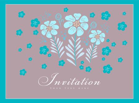 Elegant stylish invitation card.  Vector