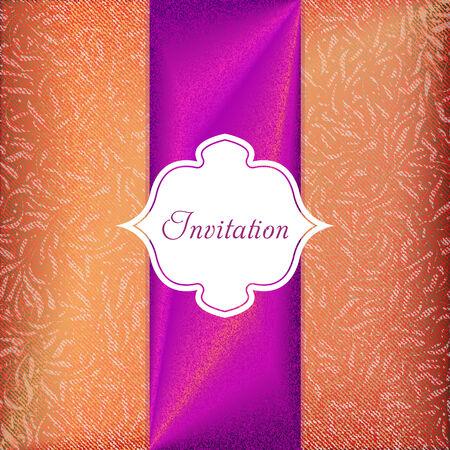 Elegant invitation card.  Illustration