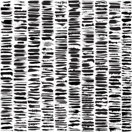 Large set of 450 different grunge brush strokes.