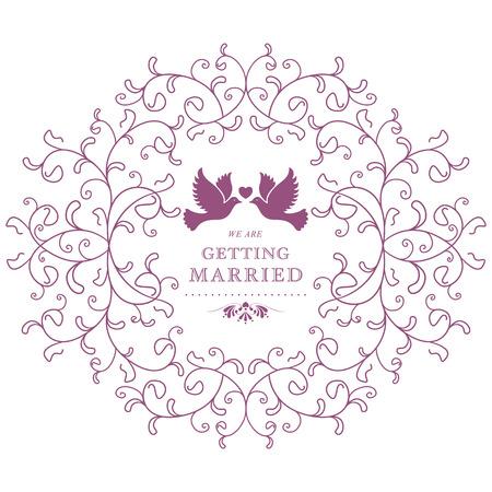 Wedding invitation card.  Vector