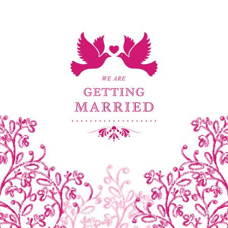 Wedding invitation card. Perfect as invitation or announcement. Vector