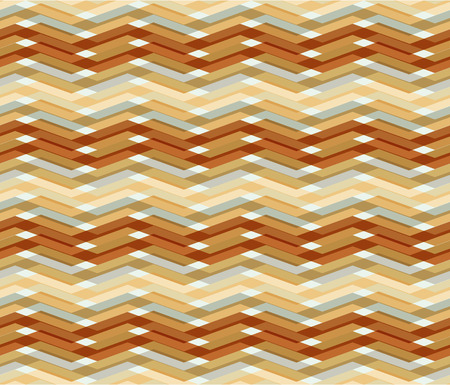 pleat: Seamless zigzag pattern with a rippled effect on a light background. Illustration