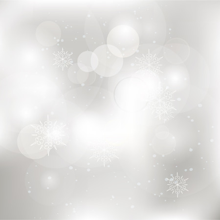 winter wonderland: Glittery lights silver abstract Christmas background.