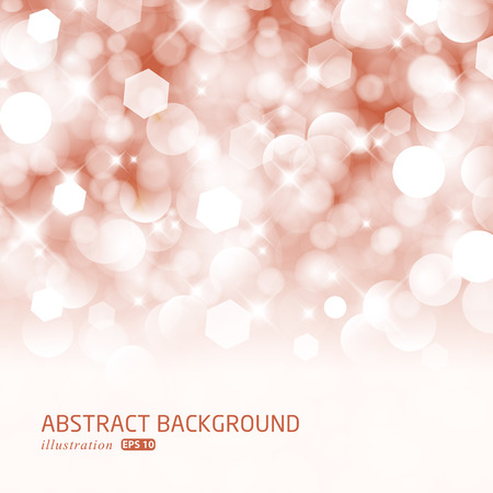 Glittery lights red abstract Christmas background.