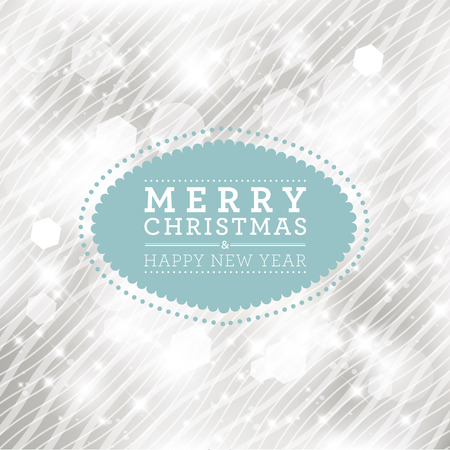solemn: Merry Christmas and Happy New Year card design. Perfect as invitation or announcement.