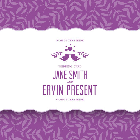 Wedding card or invitation with floral ornament background. Perfect as invitation or announcement.