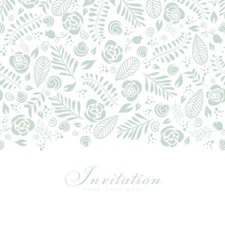 Leuke uitnodigingskaart met bloemenornamentontwerp. Stockfoto - 31055947