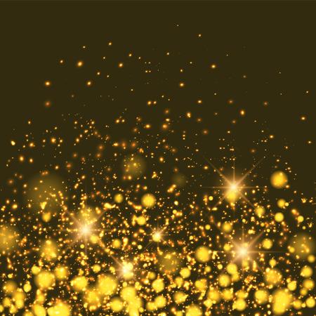 Gold sparkle glitter background. Sparkling flow background.