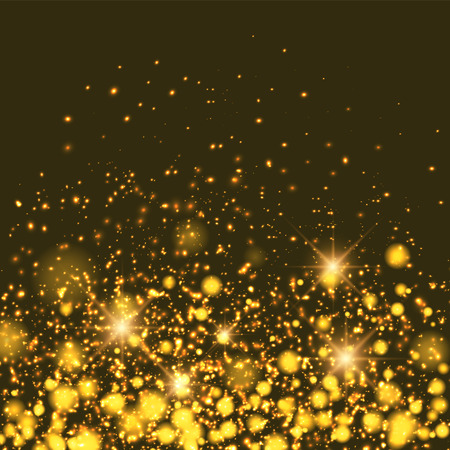 shiny black: Gold sparkle glitter background. Sparkling flow background.