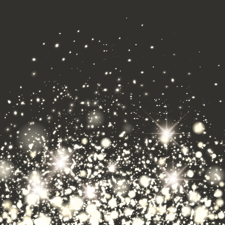 glamorous: Silver sparkle glitter background. Sparkling flow background. Illustration