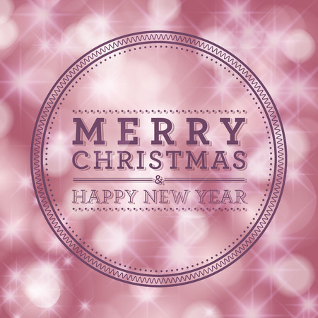 occassion: Merry Christmas and Happy New Year card design. Perfect as invitation or announcement.