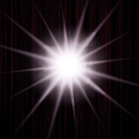 flashy: Bright sparkling star.