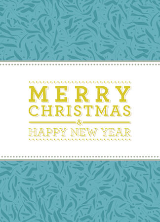 greetingcard: Merry Christmas and New Year typographic label. Holidays design.