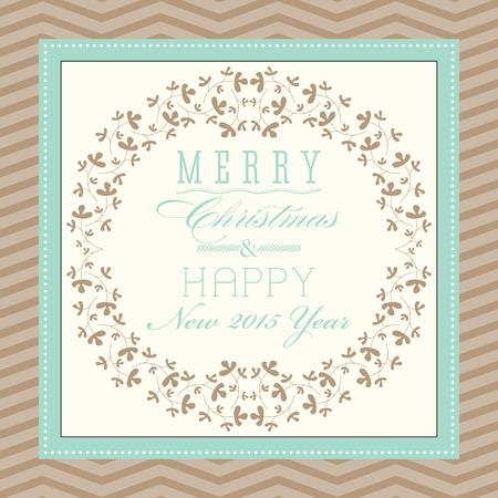 solemn: Vintage Christmas card design.