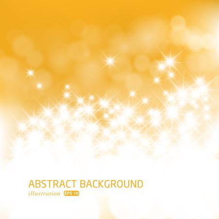 celebra: El oro festivo de Navidad de fondo. Fondo abstracto elegante con bokeh desenfocado luces y estrellas.