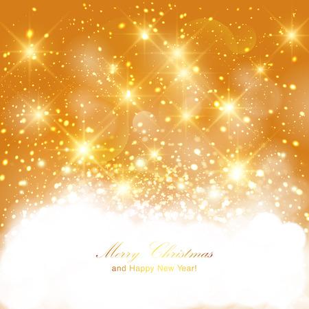 intense: Sfondo dorato brillante con intensi bagliori luminosi e glitter