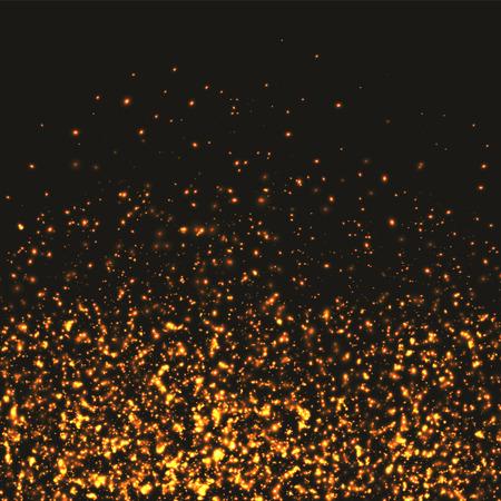 glittery: Glittery gold Christmas background. Illustration