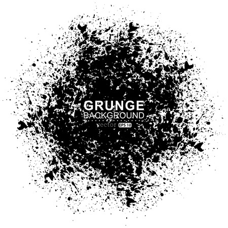 grungy background: Figured brush strokes brush and ink. Illustration