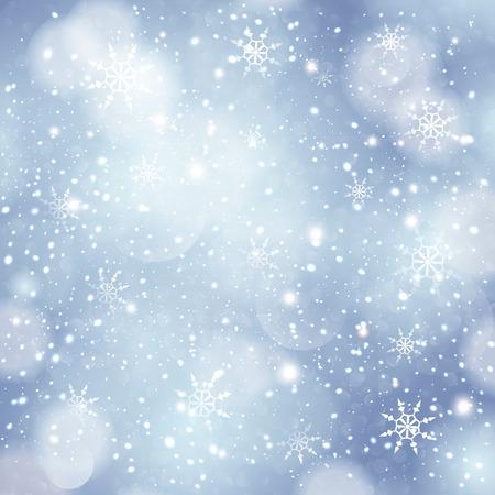 star trail: Vintage lights background. Christmas blue defocused.