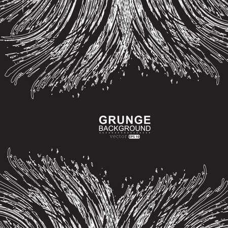 black grunge background: Black and white grunge background.