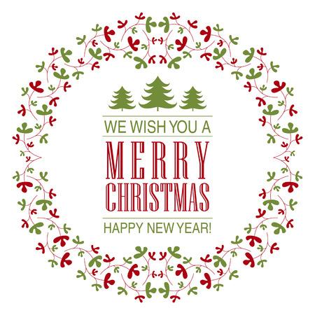 postcard background: Christmas postcard ornament decoration background. Illustration