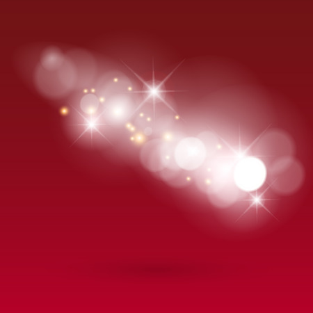 Winter bokeh background. Vector