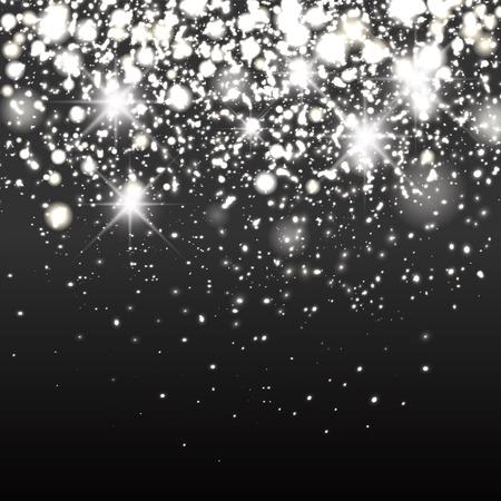 Silver sparkle glitter background. Sparkling flow background