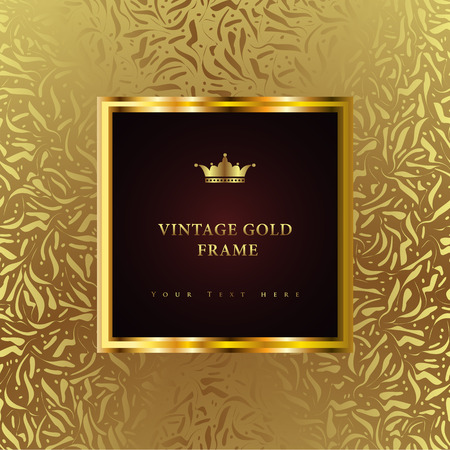 luxury template: Luxury vintage background. Perfect as invitation or announcement.