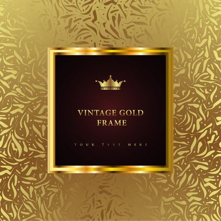 anniversaire: Vintage background luxe. Parfait comme invitation ou annonce. Illustration