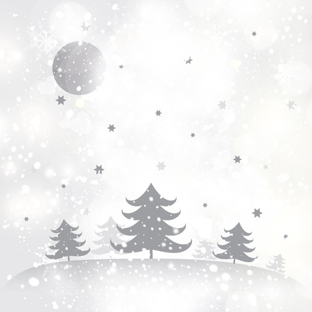 new years day: Christmas background with a snowy winter landscape.